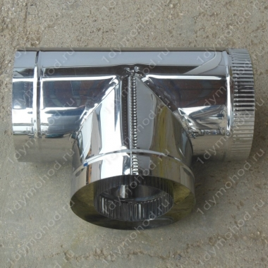Сэндвич-тройник 150/230 мм 90 из нержавейки 0,8 мм и оцинковки