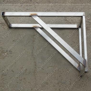 Консоль стеновую 250х500 мм до 230 мм нержавеющая профильная труба