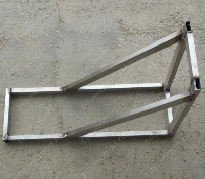 Консоль стеновую 450х750 мм до 430 мм нержавеющая профильная труба цена