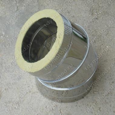 Сэндвич-отвод 115/200 мм 45 (135) из нержавейки 0,8 мм и оцинковки цена