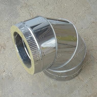 Сэндвич-отвод 115/200 мм 90 из нержавеющей стали 0,8 мм цена