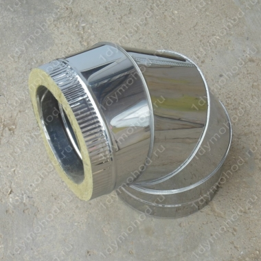 Сэндвич-отвод 130/210 мм 90 из нержавейки 0,8 мм и оцинковки цена