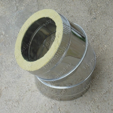 Сэндвич-отвод 180/260 мм 45 (135) из нержавейки 0,8 мм и оцинковки цена