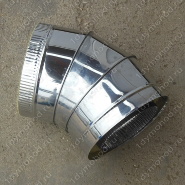 Купите сэндвич-отвод 250/330 мм 45 (135) из нержавеющей стали 1 мм