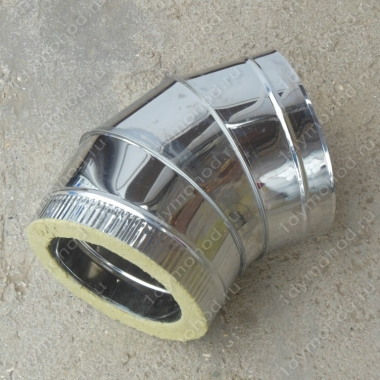 Сэндвич-отвод 250/330 мм 45 (135) из нержавеющей стали 1 мм
