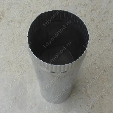 Купите трубу 150 мм. 0,5 м. одноконтурная из нержавеющей стали 0,8 мм.