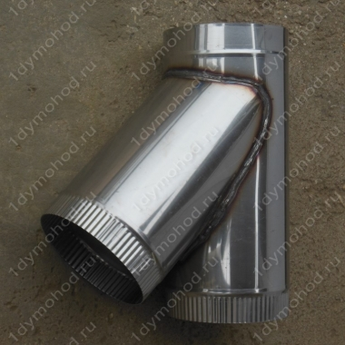 Купите одноконтурный тройник 130 мм 45 (135) из нержавеющей стали 0,8 мм