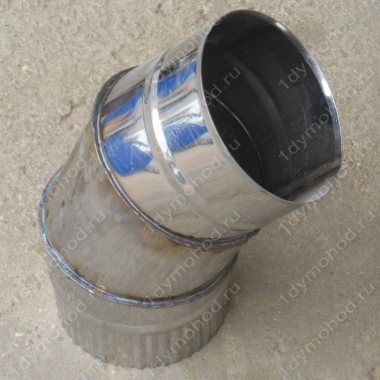 Одноконтурный отвод 115 мм 45 (135) из нержавеющей стали 0,8 мм цена