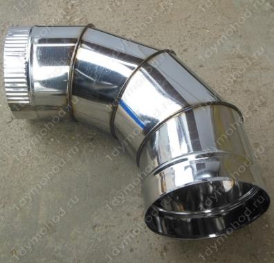 Купите одноконтурный отвод 115 мм 90 из нержавеющей стали 0,8 мм