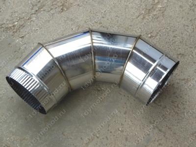 Одноконтурный отвод 120 мм 90 из нержавеющей стали 0,8 мм цена