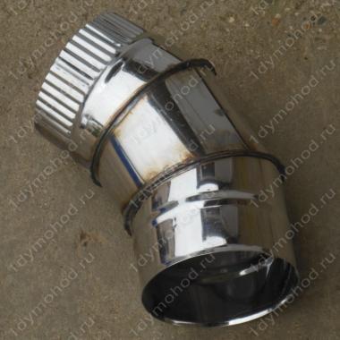 Купите одноконтурный отвод 130 мм 45 (135) из нержавеющей стали 0,8 мм