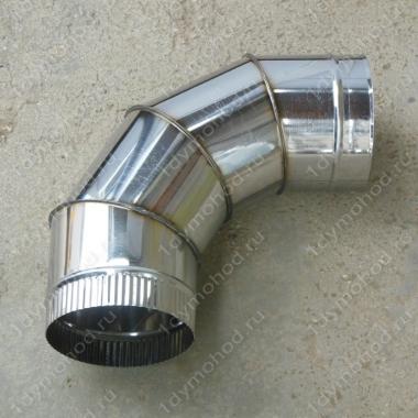 Одноконтурный отвод 130 мм 90 из нержавеющей стали 0,8 мм