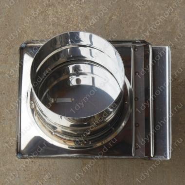 Шибер 150 мм задвижка из нержавеющей стали 0,8 мм
