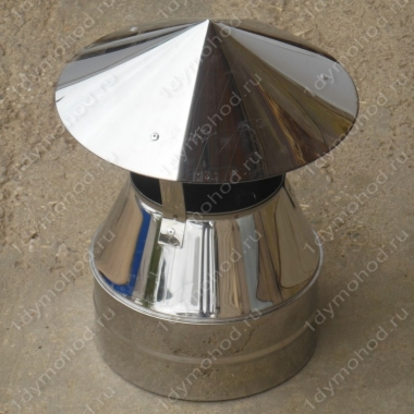 Оголовок 130/210 мм из нержавейки 0,5 мм