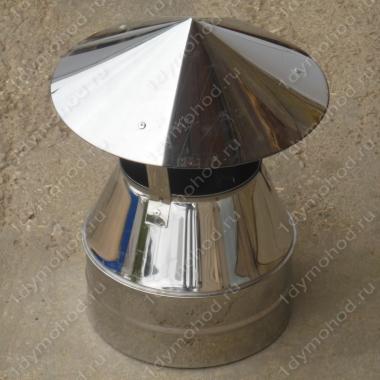 Оголовок 350/430 мм из нержавейки 0,5 мм