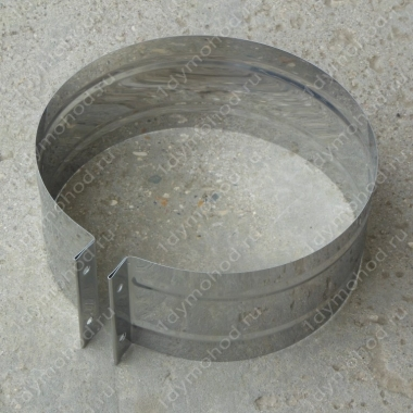 Хомут обжимной 115 мм из нержавеющей стали 0,5 мм