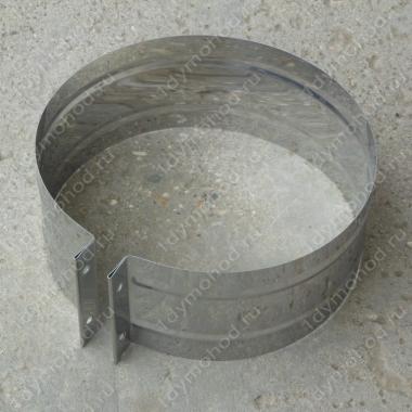 Хомут обжимной 250 мм из нержавеющей стали 0,5 мм