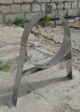 Регулируемый стеновой кронштейн 380 мм, нержавейка 1 мм