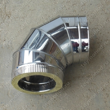 Сэндвич-отвод 400/480 мм 45 (135) из нержавеющей стали 1 мм